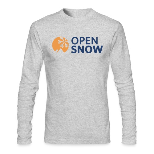 OpenSnow Horizontal Logo - Men's Long Sleeve T-Shirt by Next Level