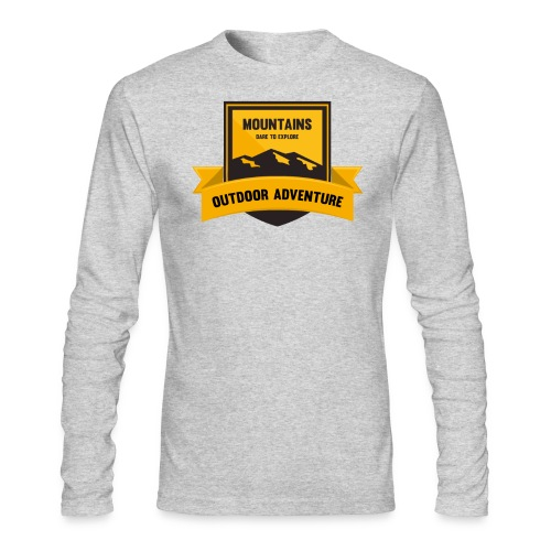 Mountains Dare to explore T-shirt - Men's Long Sleeve T-Shirt by Next Level