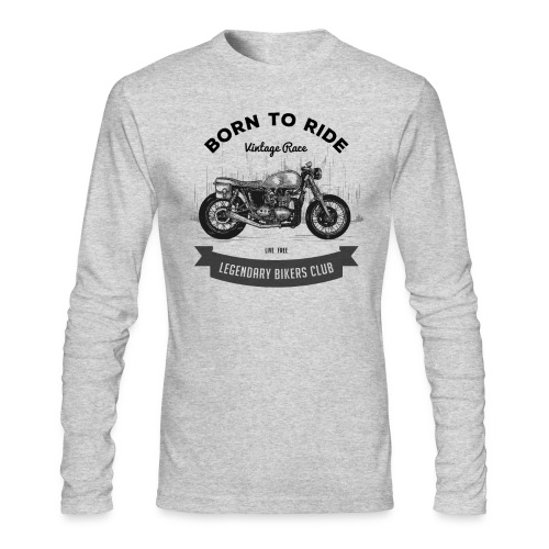 Born to ride Vintage Race T-shirt - Men's Long Sleeve T-Shirt by Next Level