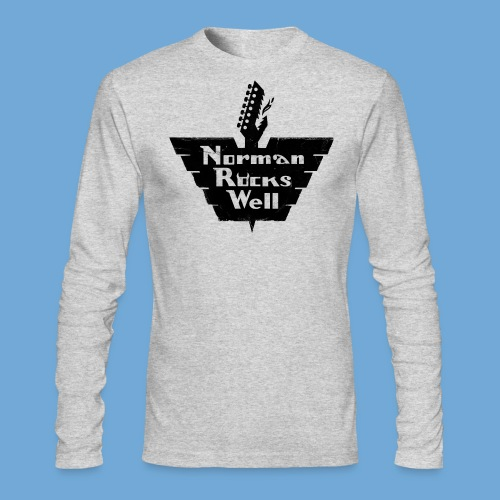 Norman Rocks Well logo in black. - Men's Long Sleeve T-Shirt by Next Level