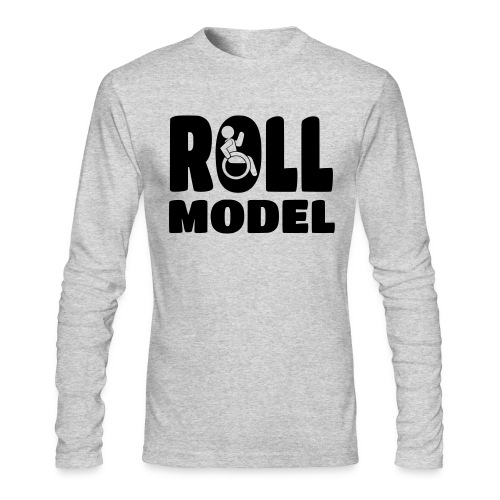 Wheelchair Roll model - Men's Long Sleeve T-Shirt by Next Level
