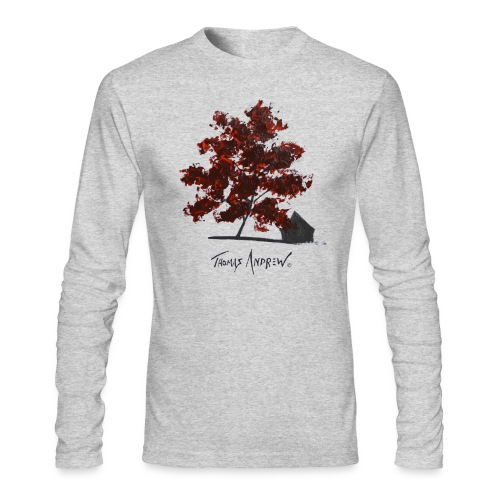 Red Tree on paper png - Men's Long Sleeve T-Shirt by Next Level