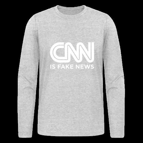 CNN Is Fake News - Men's Long Sleeve T-Shirt by Next Level
