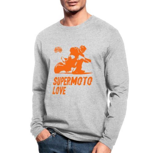 Supermoto Love - Men's Long Sleeve T-Shirt by Next Level