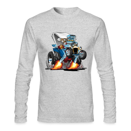 Custom T-bucket Roadster Hotrod Cartoon - Men's Long Sleeve T-Shirt by Next Level