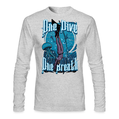 One Dive One Breath Freediving - Men's Long Sleeve T-Shirt by Next Level
