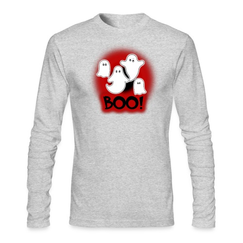 Ghosties Boo Happy Halloween 9 - Men's Long Sleeve T-Shirt by Next Level