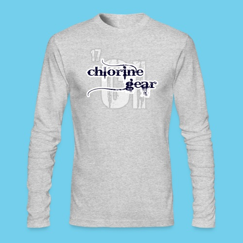 Large Chlorine Gear Relief background Logo - Men's Long Sleeve T-Shirt by Next Level