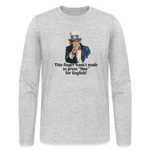 Uncle Sam - Finger - Men's Long Sleeve T-Shirt by Next Level