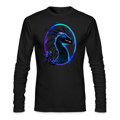 Horned Black Dragon and Symbol - Men's Long Sleeve T-Shirt by Next Level