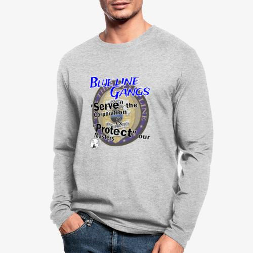 Thin Blue Line - To Serve and Protect - Men's Long Sleeve T-Shirt by Next Level