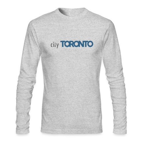 cityTorontoLogoNEW.png - Men's Long Sleeve T-Shirt by Next Level