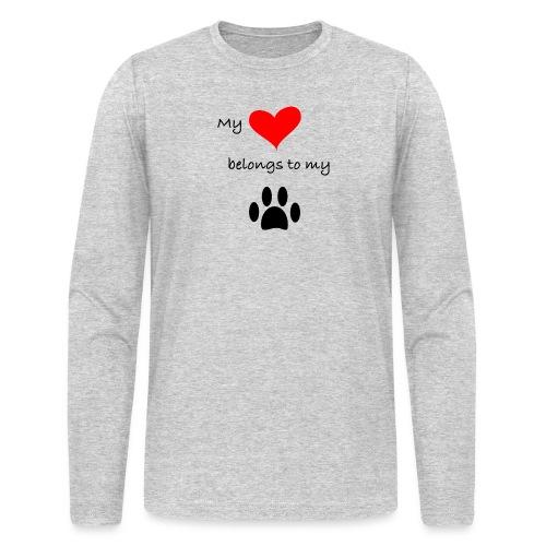 Dog Lovers shirt - My Heart Belongs to my Dog - Men's Long Sleeve T-Shirt by Next Level