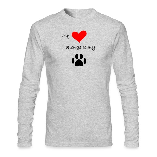 Dog Lovers shirt - My Heart Belongs to my Dog - Men's Long Sleeve T-Shirt by Next Level