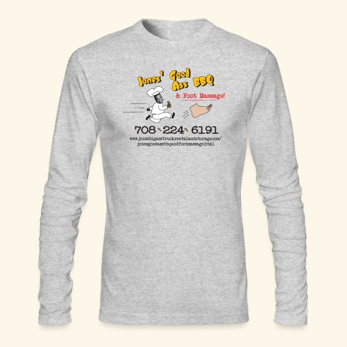 Jones Good Ass BBQ and Foot Massage logo - Men's Long Sleeve T-Shirt by Next Level