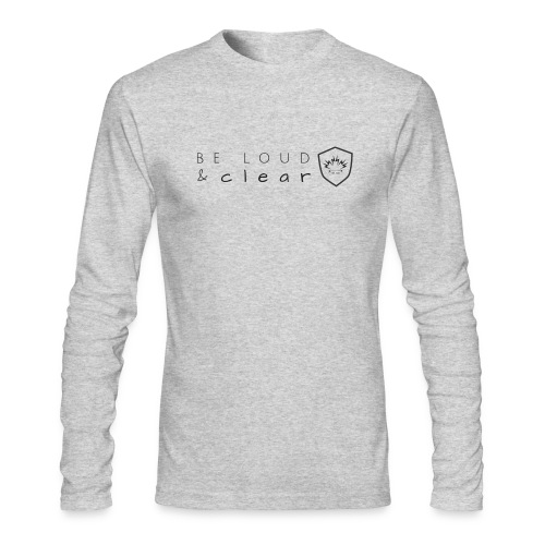 loud and clear transparent - Men's Long Sleeve T-Shirt by Next Level