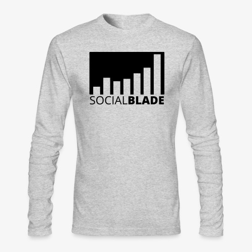 SB Blackout Logo - Men's Long Sleeve T-Shirt by Next Level