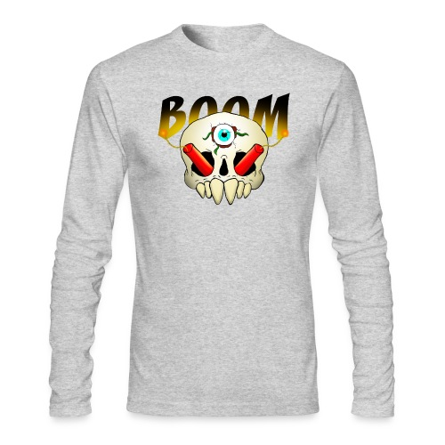 Boom Skull - Men's Long Sleeve T-Shirt by Next Level