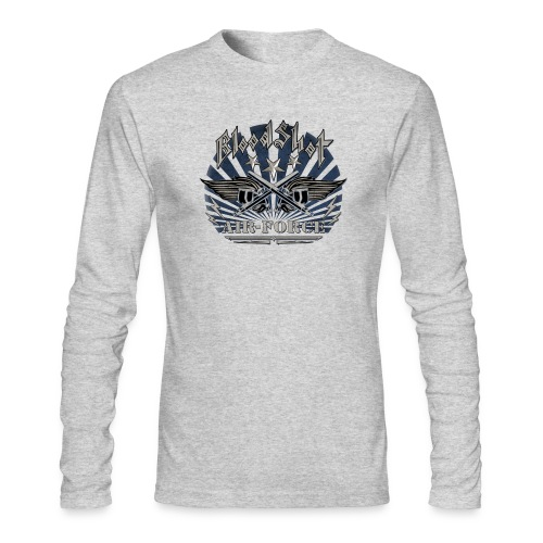 BloodShot Air Force with black - Men's Long Sleeve T-Shirt by Next Level