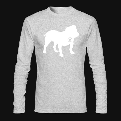 Bulldog love - Men's Long Sleeve T-Shirt by Next Level