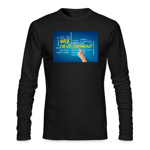 web development design - Men's Long Sleeve T-Shirt by Next Level
