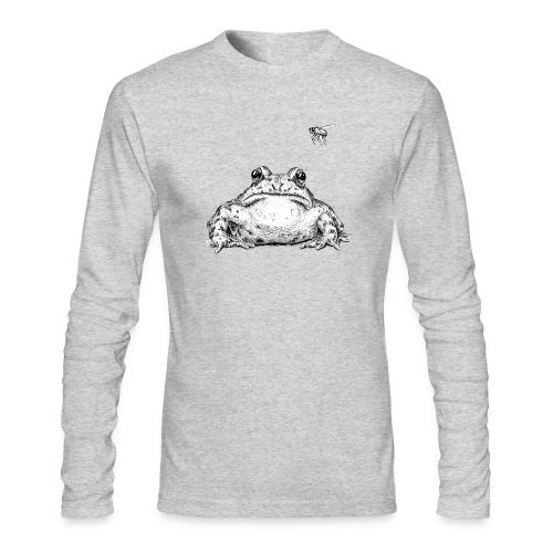 Frog with Fly by Imoya Design - Men's Long Sleeve T-Shirt by Next Level