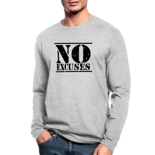 No Excuses training - Men's Long Sleeve T-Shirt by Next Level