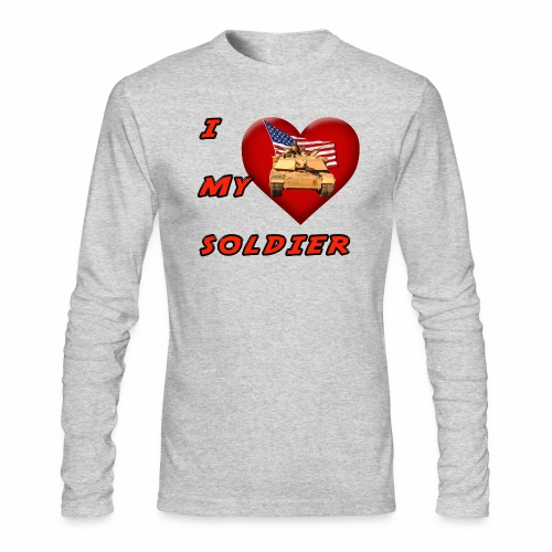 I Heart my Soldier - Men's Long Sleeve T-Shirt by Next Level