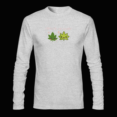 Weed Be Cute Together - Men's Long Sleeve T-Shirt by Next Level