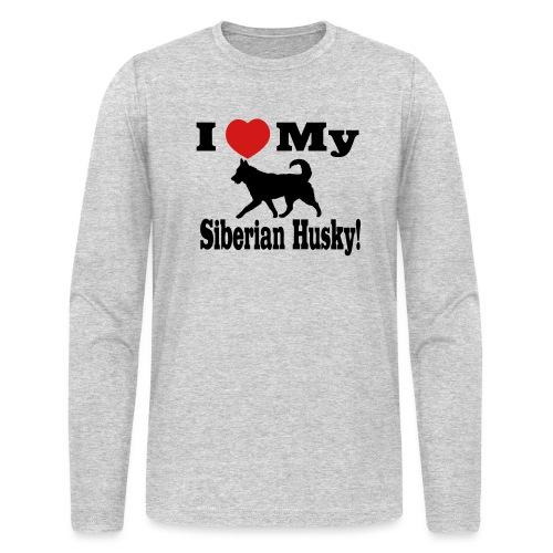 I Love my Siberian Husky - Men's Long Sleeve T-Shirt by Next Level