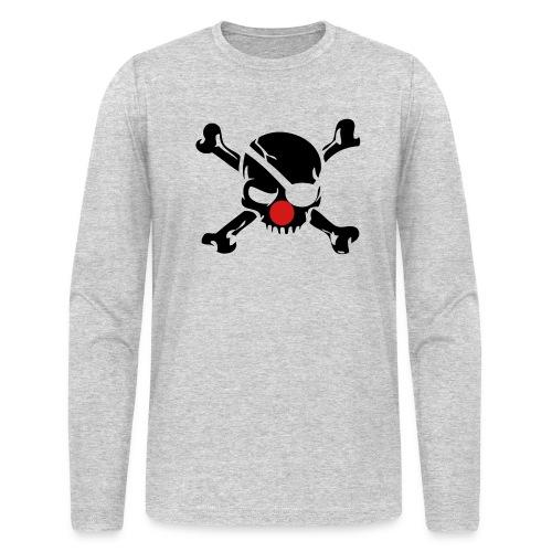 Clown Jolly Roger Pirate - Men's Long Sleeve T-Shirt by Next Level