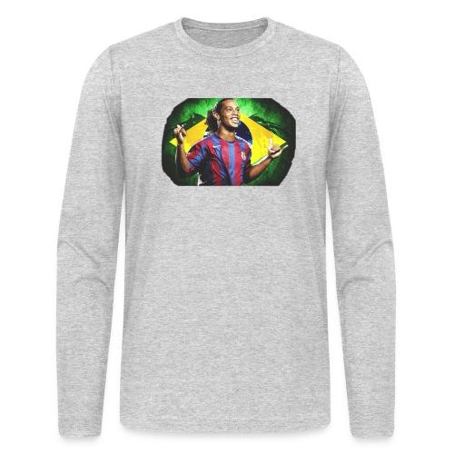 Ronaldinho Brazil/Barca print - Men's Long Sleeve T-Shirt by Next Level