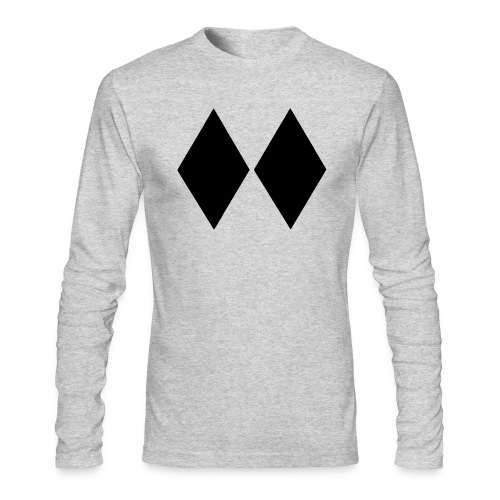 Double Black Diamond - Men's Long Sleeve T-Shirt by Next Level