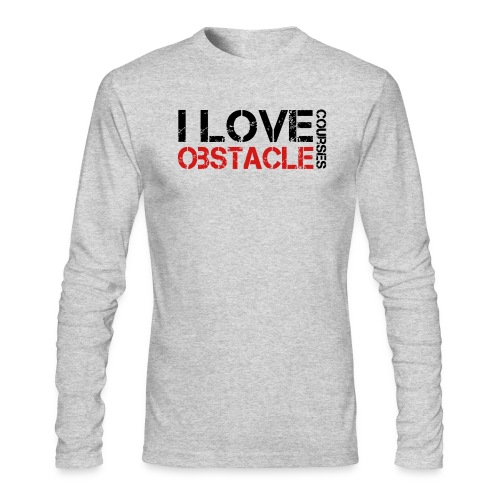 I love Obstacle Courses - Men's Long Sleeve T-Shirt by Next Level