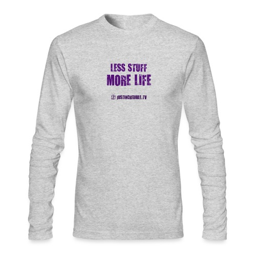 Less Stuff More Life - Men's Long Sleeve T-Shirt by Next Level
