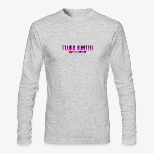 The Fluro Hunter Black And Purple Gradient - Men's Long Sleeve T-Shirt by Next Level