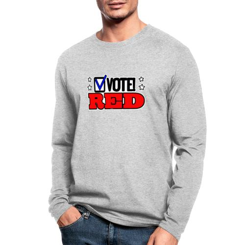 VOTE RED - Men's Long Sleeve T-Shirt by Next Level