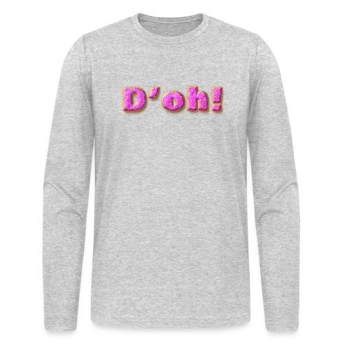 Homer Simpson D'oh! - Men's Long Sleeve T-Shirt by Next Level