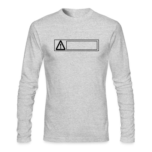 warning sign - Men's Long Sleeve T-Shirt by Next Level