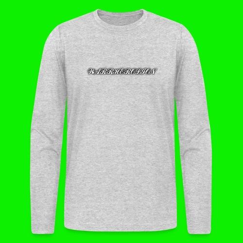 Warherolion plane text-gray - Men's Long Sleeve T-Shirt by Next Level