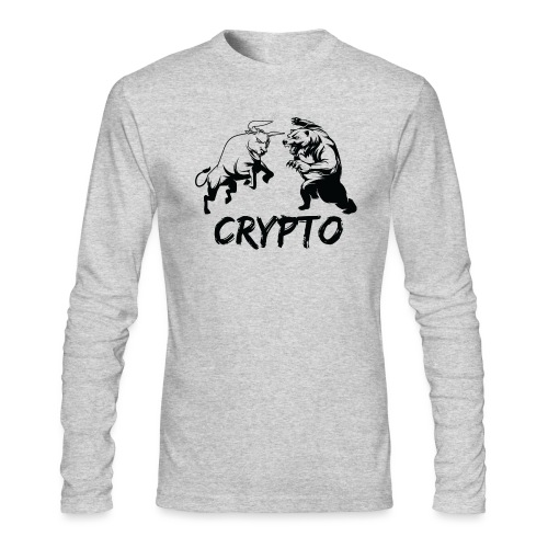 CryptoBattle Black - Men's Long Sleeve T-Shirt by Next Level