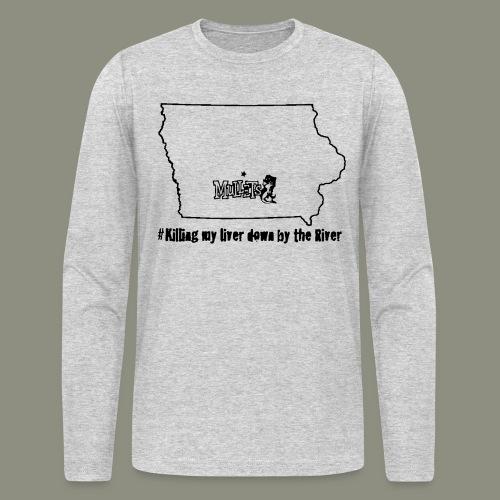 river black - Men's Long Sleeve T-Shirt by Next Level