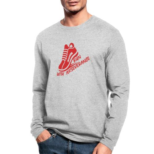 Run with perseverance - Men's Long Sleeve T-Shirt by Next Level