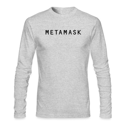 MetaMask Wordmark - Men's Long Sleeve T-Shirt by Next Level