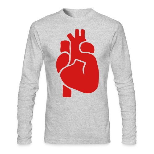 Realistic Heart - Men's Long Sleeve T-Shirt by Next Level