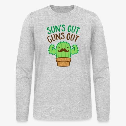 Sun's Out Guns Out Macho Cactus - Men's Long Sleeve T-Shirt by Next Level