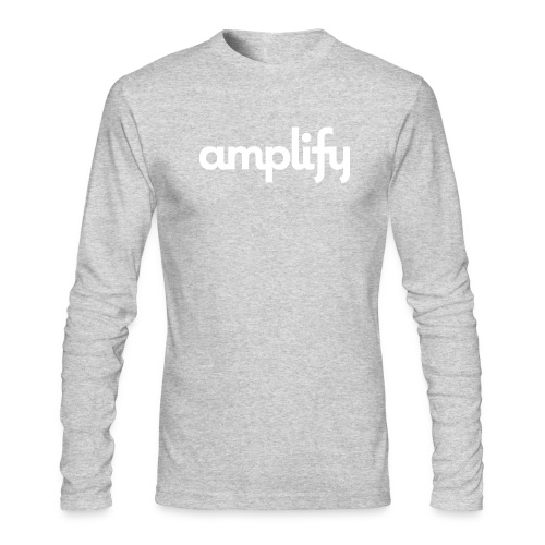 amplify logo// white - Men's Long Sleeve T-Shirt by Next Level