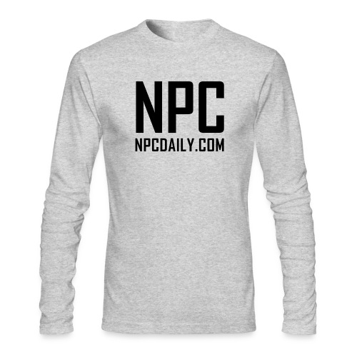 N P C with site black - Men's Long Sleeve T-Shirt by Next Level