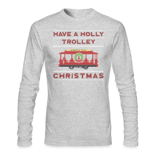 holly trolley - Men's Long Sleeve T-Shirt by Next Level