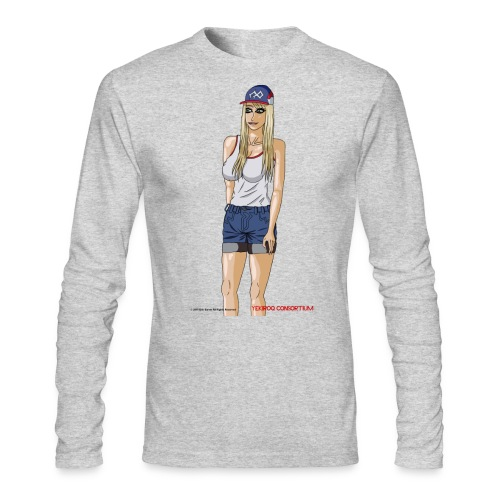 Gina Character Design - Men's Long Sleeve T-Shirt by Next Level